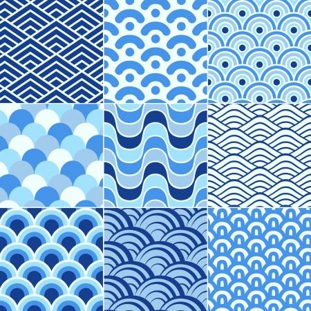 epicenter: seamless retro wave pattern