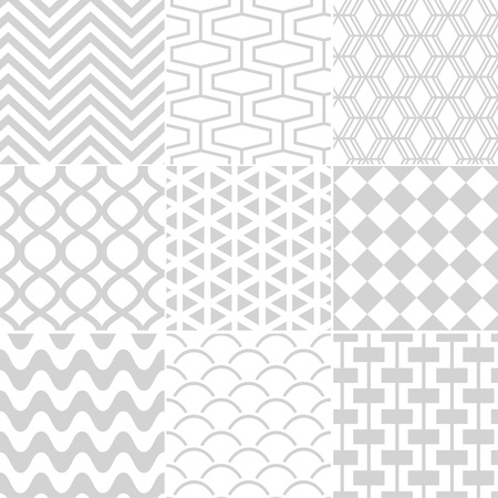 seamless white retro pattern  Vector