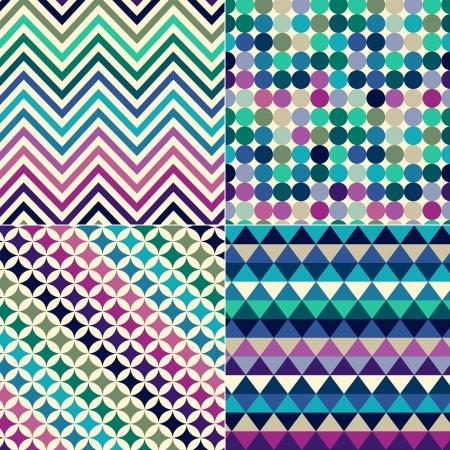 Nahtlose geometrische Muster drucken Standard-Bild - 20273287