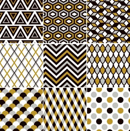 repeatable texture: sin fisuras patr�n de la impresi�n del oro Vectores