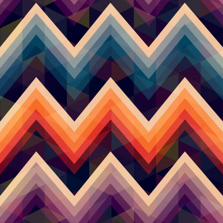 seamless retro zig zag background  Stock Vector - 20273296