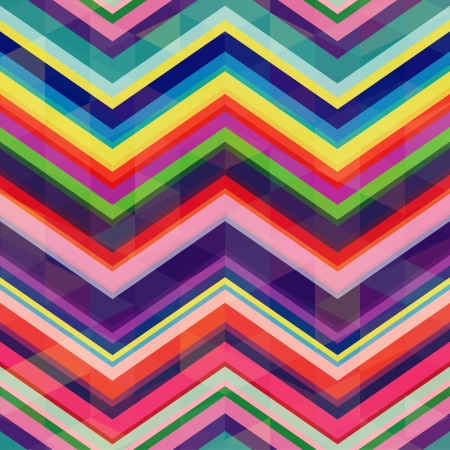 vibrant: seamless retro zig zag background