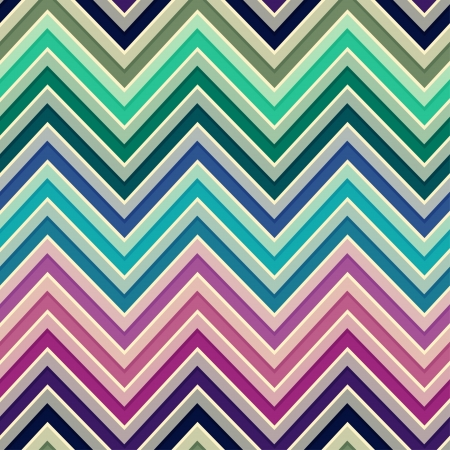 seamless retro zig zag background  Vector