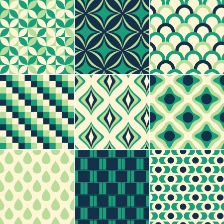 sharp curve: seamless retro pattern print