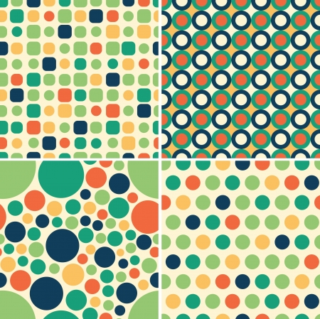 kelly green: circular seamless pattern