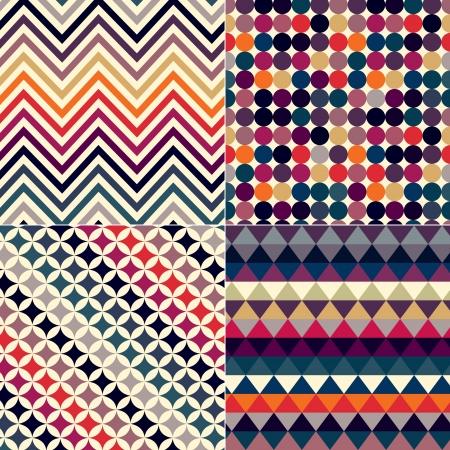 indigo: seamless retro vector pattern