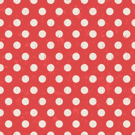 distressed paper: Seamless red polka dots pattern