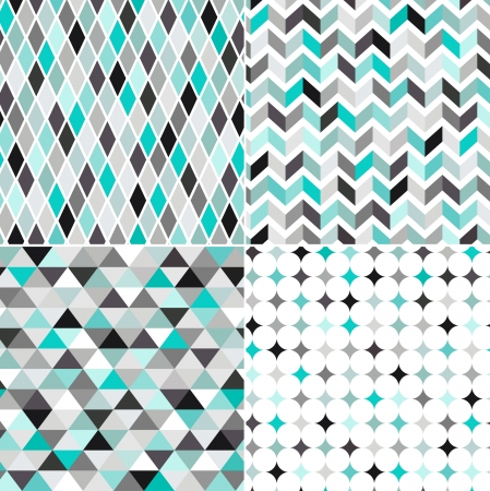 herringbone background: seamless turquoise geometric pattern