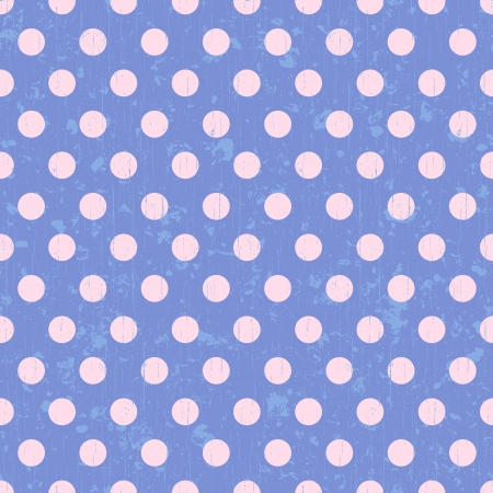 polka dots: seamless retro dot pattern background  Illustration