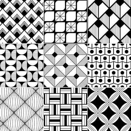 geometric: monochrome abstract seamless background