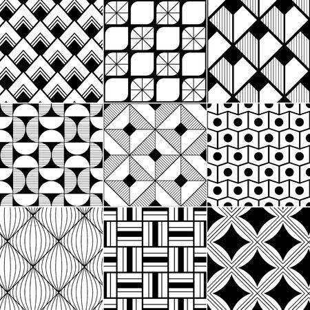 geométrico: monocromático fundo sem emenda abstrato Ilustração