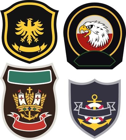 classic royal emblem badge set