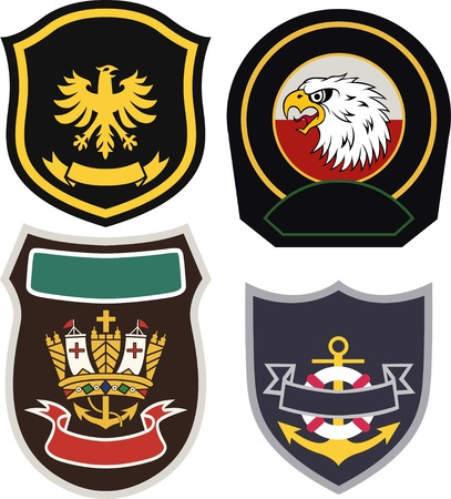 classic royal emblem badge set  Vector