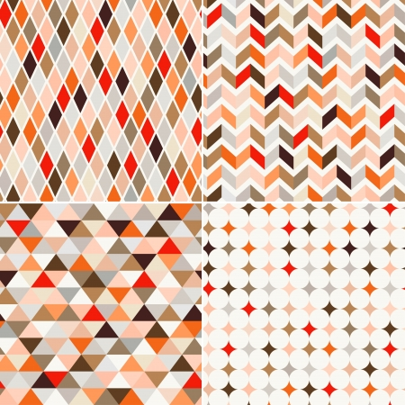 seamless retro pattern background  向量圖像