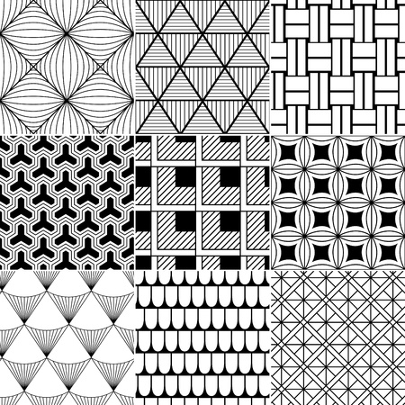 line in: in bianco e nero sfondo astratto senza soluzione di continuit� Vettoriali
