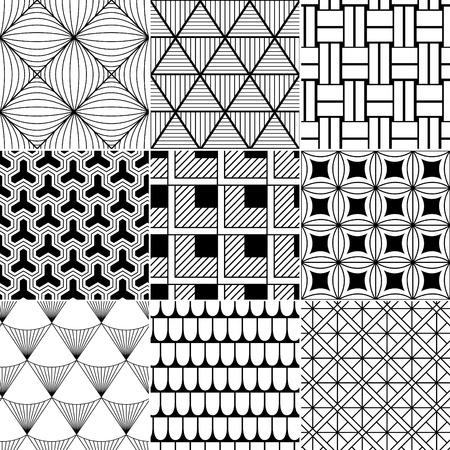 ligne: monochrome sans soudure de fond abstrait