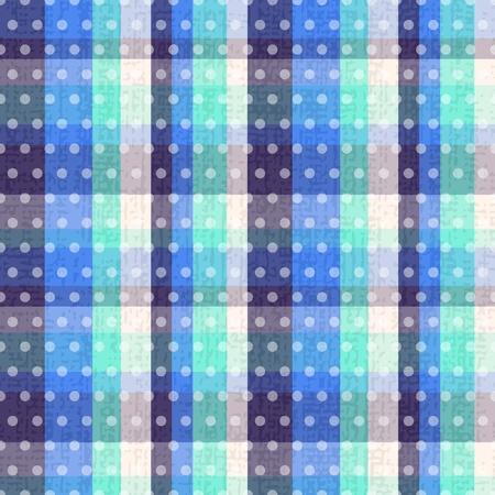 seamless plaid polka dots texture Stock Vector - 20586469