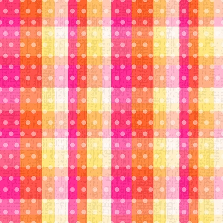 seamless plaid polka dots texture  Vector