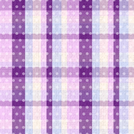 indigo: seamless plaid polka dots texture  Illustration