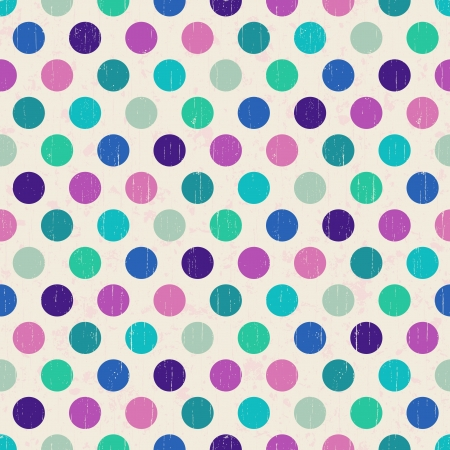 seamless retro polka dots background  Vector