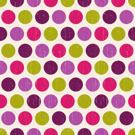 seamless retro polka dots background  Stock Vector - 20586463