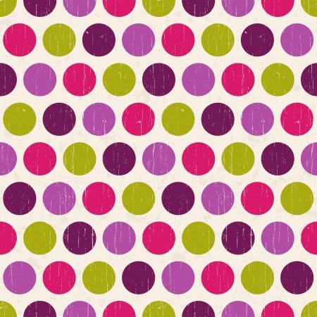 seamless retro polka dots background Stock Vector - 20586463