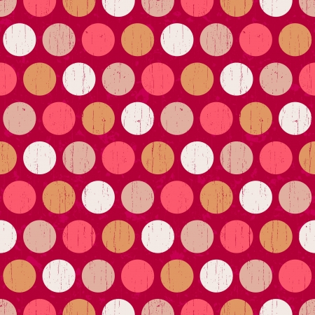 grungy dots: seamless retro polka dots background