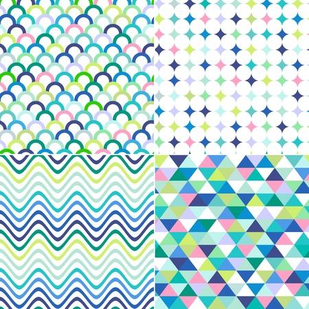 원활한 줄무늬, 지그재그와 물방울 무늬 배경