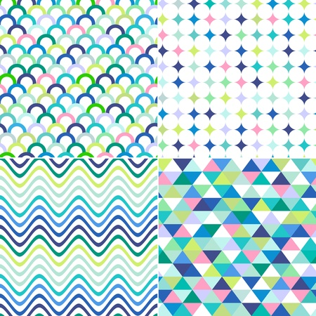 zag: seamless stripes, zig zag and polka dots background