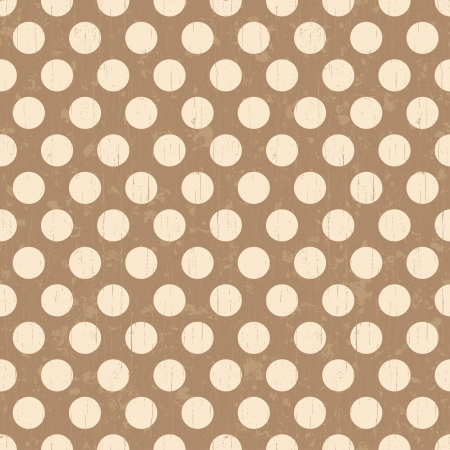 Seamless grunge circles polka dots background texture Illustration