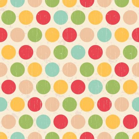 turquesa: Seamless círculos del grunge dots polka Textura del fondo de