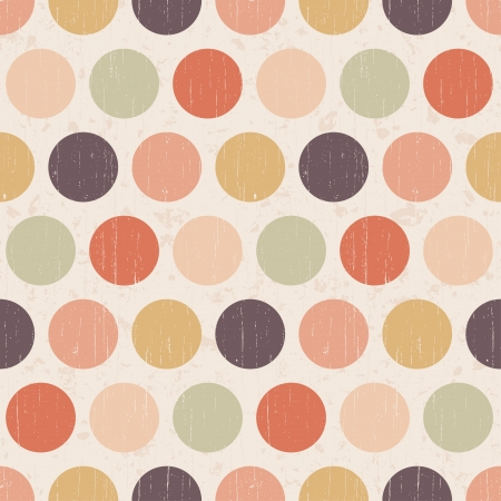 Seamless grunge circles polka dots background texture Stock Vector - 20778446