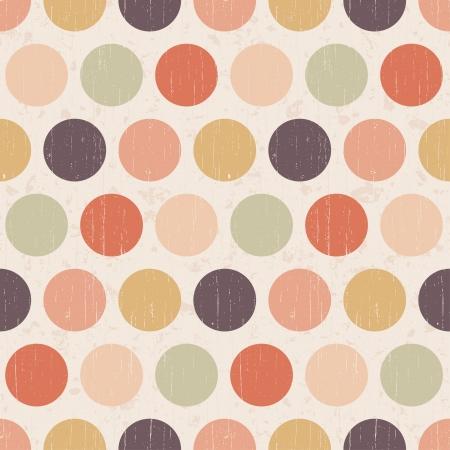 Seamless grunge circles polka dots background texture Stock Vector - 20778446