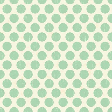 pale cream: Seamless retro grunge polka dots background