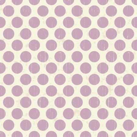 purple grunge: Seamless retro grunge polka dots background