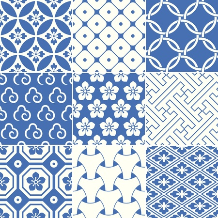 motive: vintage japanische traditionelle Muster