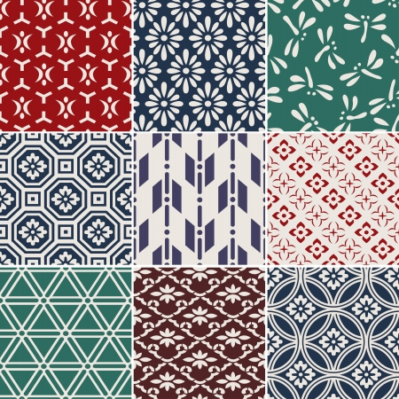 japanese motif: seamless traditional japanese background Illustration