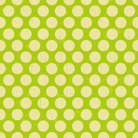 Seamless retro grunge polka dots background  Vector