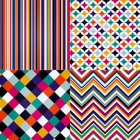 rhombus: rhombus, stripes, and zig zag seamless pattern
