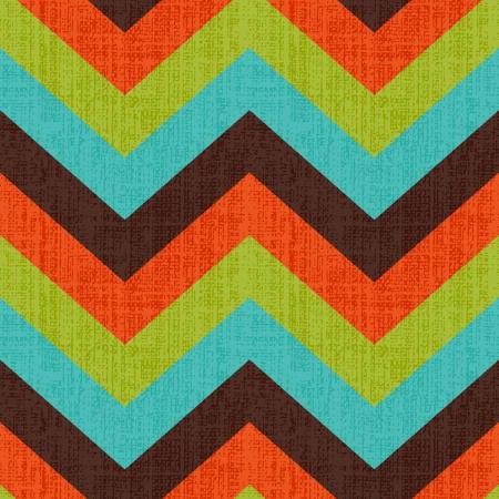 Seamless Retro Zickzack-Muster Standard-Bild - 21948416