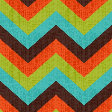 stripes: Seamless Retro Zig Zag Pattern Illustration