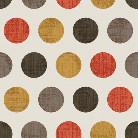 Seamless Colorful Textured Polka Dots Vector