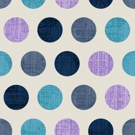 원활한 다채로운 질감 물방울 무늬 일러스트