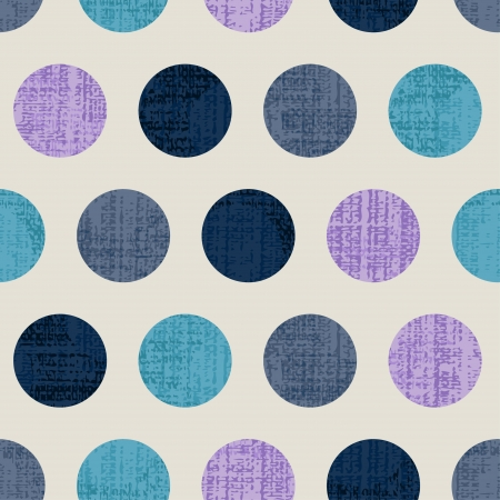 Seamless Colorful Textured Polka Dots Illustration