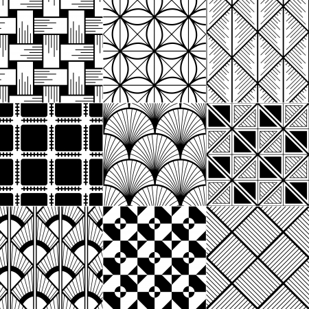 repeat square: monochrome abstract seamless background