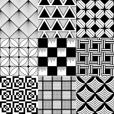 symmetrical design: monochrome abstract seamless background