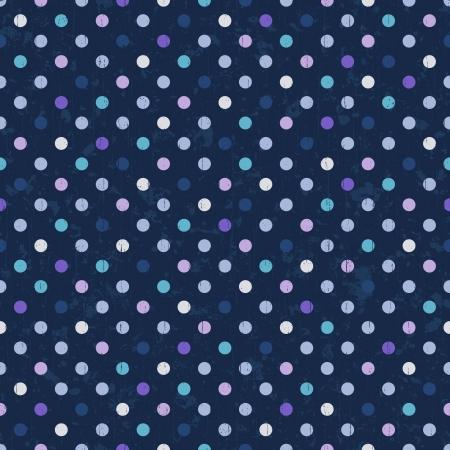 azul marino: lunares de fondo sin fisuras