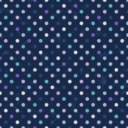 navy blue: polka dots seamless background