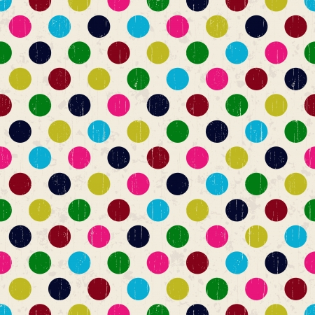 seamless grunge circles polka dots background texture  Vector