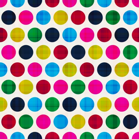 seamless colorful polka background Stock Vector - 22019959